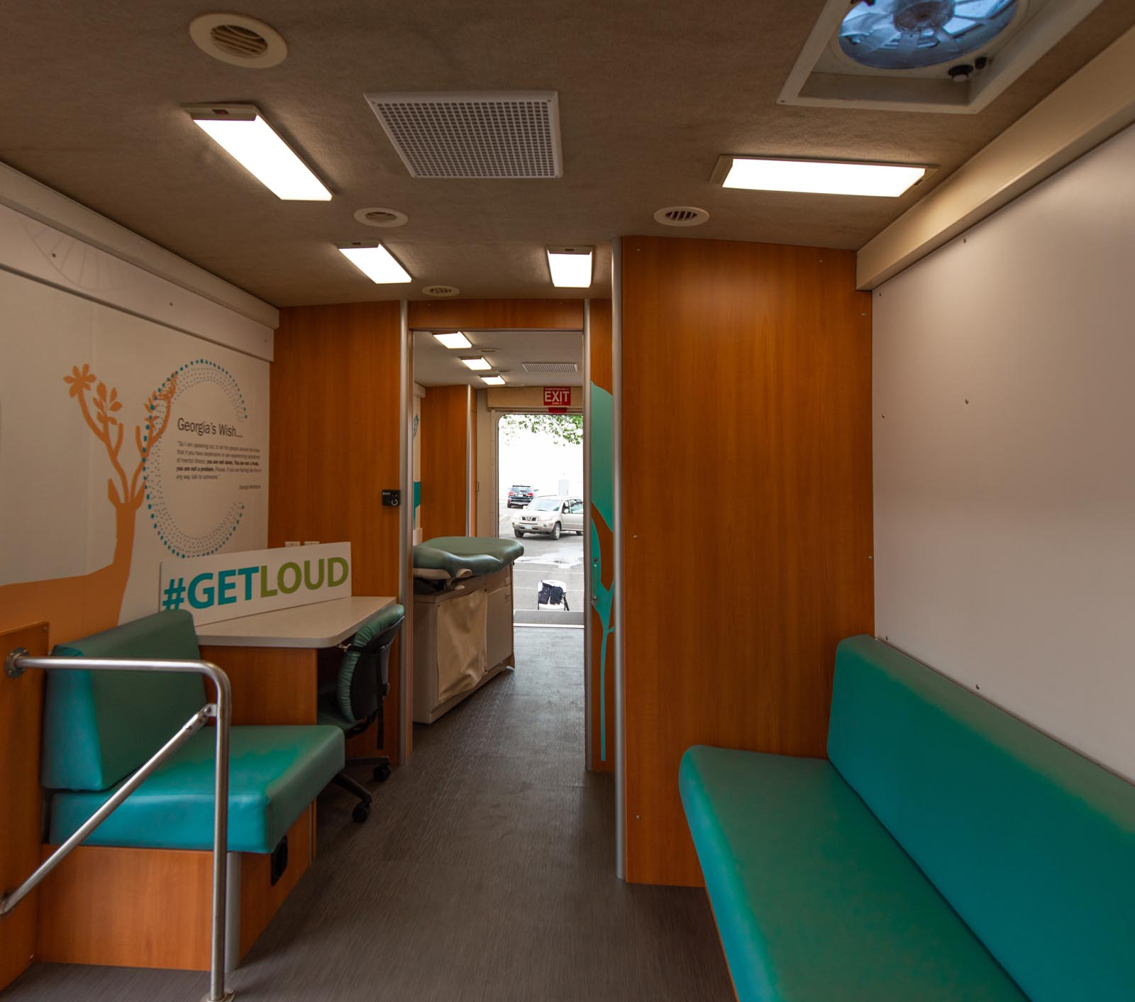 Wellness on Wheels Foundry mobile unit interior image
